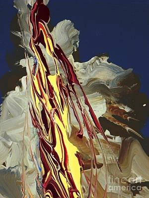 Free Form Painting - Pillar Of Fire Close Up by David Ackerson