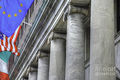 Photograph - Pillars And Flags by David Zanzinger