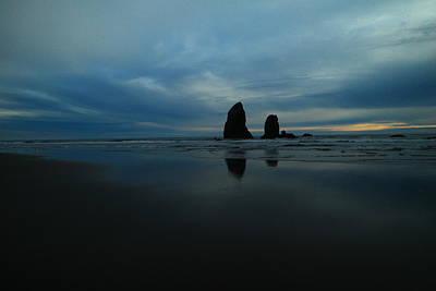 Pillars And Ocean Art Print by Jeff Swan