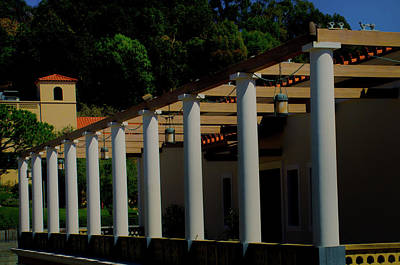 Photograph - Pillars At Getty Villa by Joseph Hollingsworth