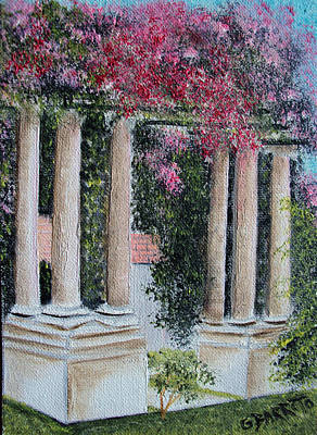 Pillars In The Garden Art Print