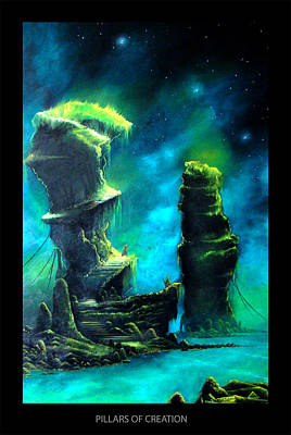 Eagle Nebula Painting - Pillars Of Creation by Christopher Wilhelm