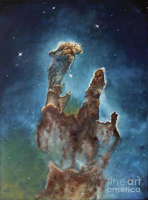 Eagle Nebula Painting - Pillars Of Creation by Noemie Sierra