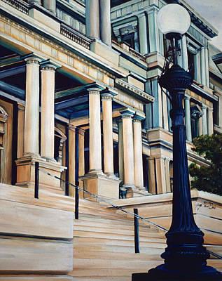 Wall Art - Painting - Pillars Of Power, Washington Dc by Gaye Elise Beda