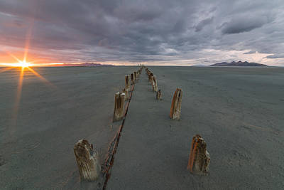 Great Salt Lake Photograph - Pillars by Peter Irwindale