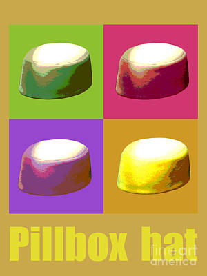 Digital Art - Pillbox Hat by Jean luc Comperat