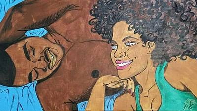 Natural Hair Painting - Pillow Conversations by Autumn Leaves Art