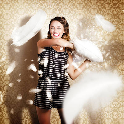Digital Art - Pillow Fight Pinup by Jorgo Photography - Wall Art Gallery
