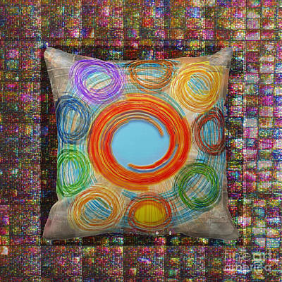 Painting - Pillow Over Mosiac Colorful Circles By Navinjoshi Artistwebsites Fineartamerica Pixels by Navin Joshi