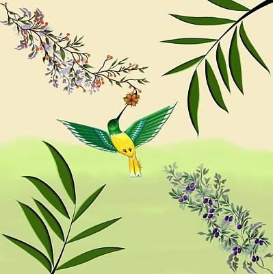 Digital Art - Hummingbird by Vincent Autenrieb