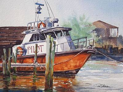 Painting - Pilot Boat - Port A Texas by Tina Bohlman