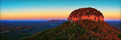 Pilot Mountain  Art Print