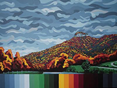 Pilot Mountain Fall Art Print
