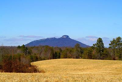 Photograph - Pilot Mountain In The Distance by Kathryn Meyer