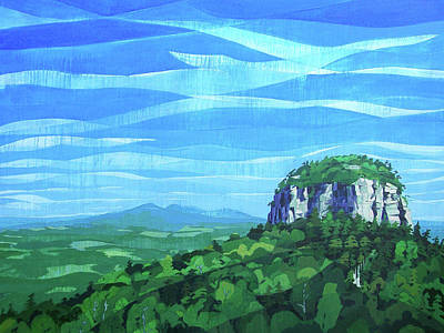 Painting - Pilot Mountain by John Gibbs