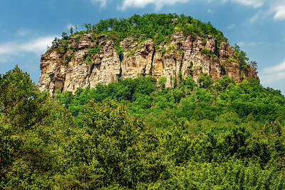 Photograph - Pilot Mountain North Carolina  -  Pilotmountain185897 by Frank J Benz