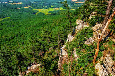 Photograph - Pilot Mountain North Carolina Scenic View  -  Mountainvalleyviewlab185847 by Frank J Benz