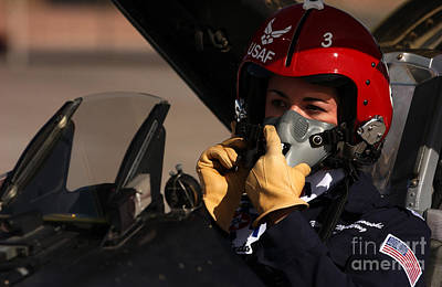 Cockpit Photograph - Pilot Prepares To Take Off In An F-16 by Stocktrek Images