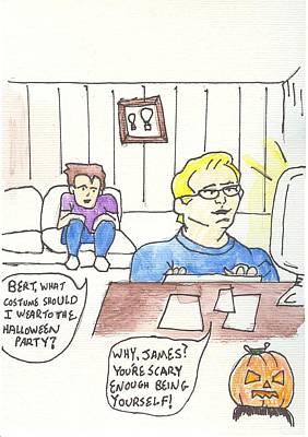 Pilots Lounge Halloween Art Print