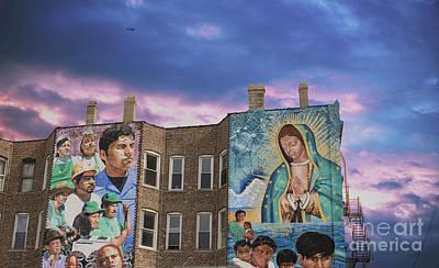 Photograph - Pilsen Neighborhood Murals, Chicago Public Street Art by Juli Scalzi