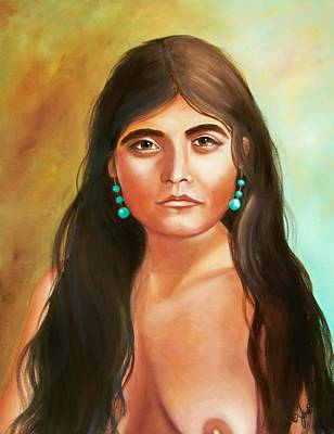 Indian Painting - Pima Maiden by Joni McPherson
