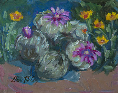 Painting - Pin Cushion Cactus At Boyce Thompson Arboretum by Diane McClary