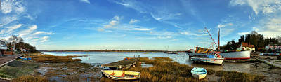 Photograph - Pin Mill Panorama by Gareth Davies