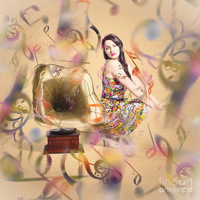 Digital Art - Pin-up The Sound Of Nostalgia by Jorgo Photography - Wall Art Gallery