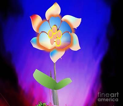 Painting - Pin Wheel Flower by Belinda Threeths