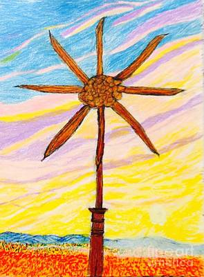 Pin Wheels Drawing - Pin Wheel  by Ishy Christine Degyansky