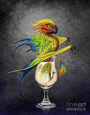 Digital Art - Pina Colada Dragon by Stanley Morrison