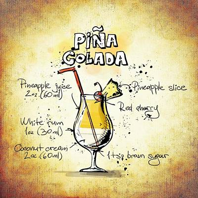 Pina Colada  Art Print by Movie Poster Prints