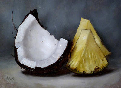 Pineapple Painting - Pina Colada Night by Clinton Hobart