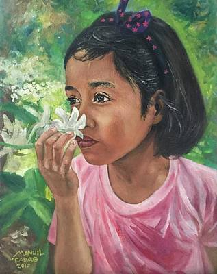 Painting - Pinay G-girl by Manuel Cadag