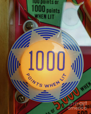 Photograph - Pinball 1000 Points When Lit by Edward Fielding