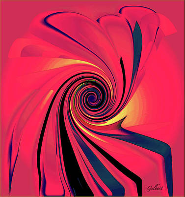 Digital Art - Pinch And Twirl 4 by Iris Gelbart