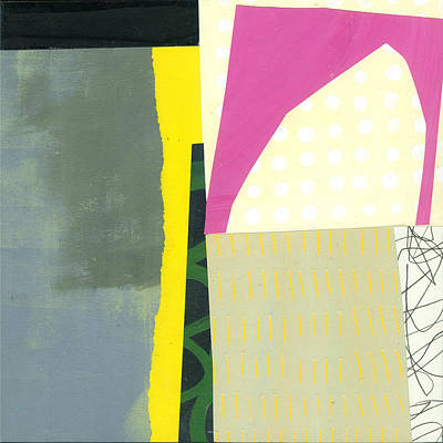 Abstract Pattern Painting - Pink Arch by Jane Davies