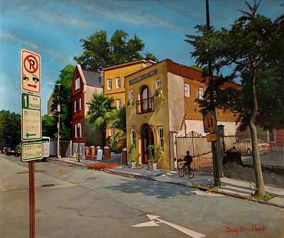 Streetscape Painting - Pinckney Inn - Charleston Sc by Doug Strickland