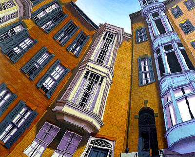 Beacon Hill Painting - Pinckney Street II by Mike Gruber