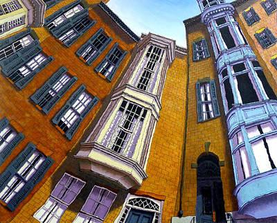 Brownstone Painting - Pinckney Street II by Mike Gruber