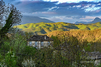 Photograph - Pindos Mountain Valley View From Dilofo, Zagorohoria, Greece by Global Light Photography - Nicole Leffer