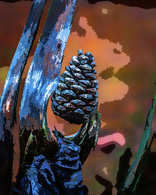 Photograph - Pine Abstracted by Michael Arend
