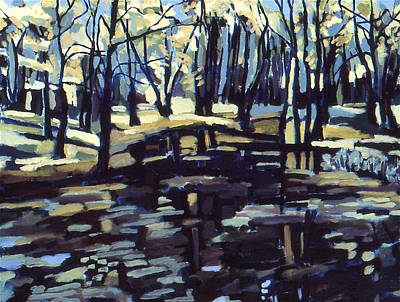 New Jersey Pine Barrens Painting - Pine Barrens by Doris  Lane Grey