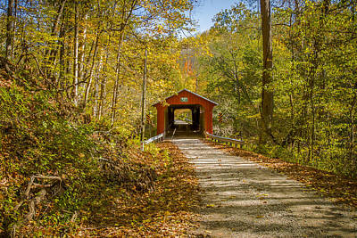 Photograph - Pine Bluff Covered Bridge by Jack R Perry