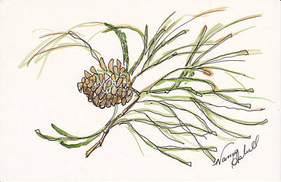 Pine Branch Offering Original by Michele Hollister - for Nancy Asbell