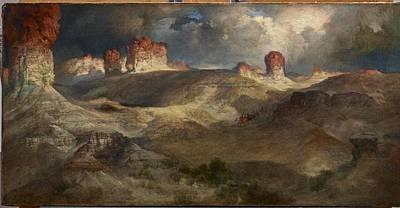 Wyoming Painting - Pine Buttes, Wyoming by Thomas Moran