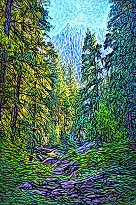 Digital Art - Pine Canyon Dreams by Joel Bruce Wallach