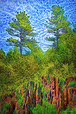 Digital Art - Pine Cliff Sunrise by Joel Bruce Wallach