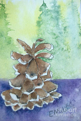 Painting - Pine Cone  by Eunice Miller