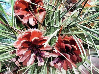 Photograph - Pine Cones by Judy Palkimas